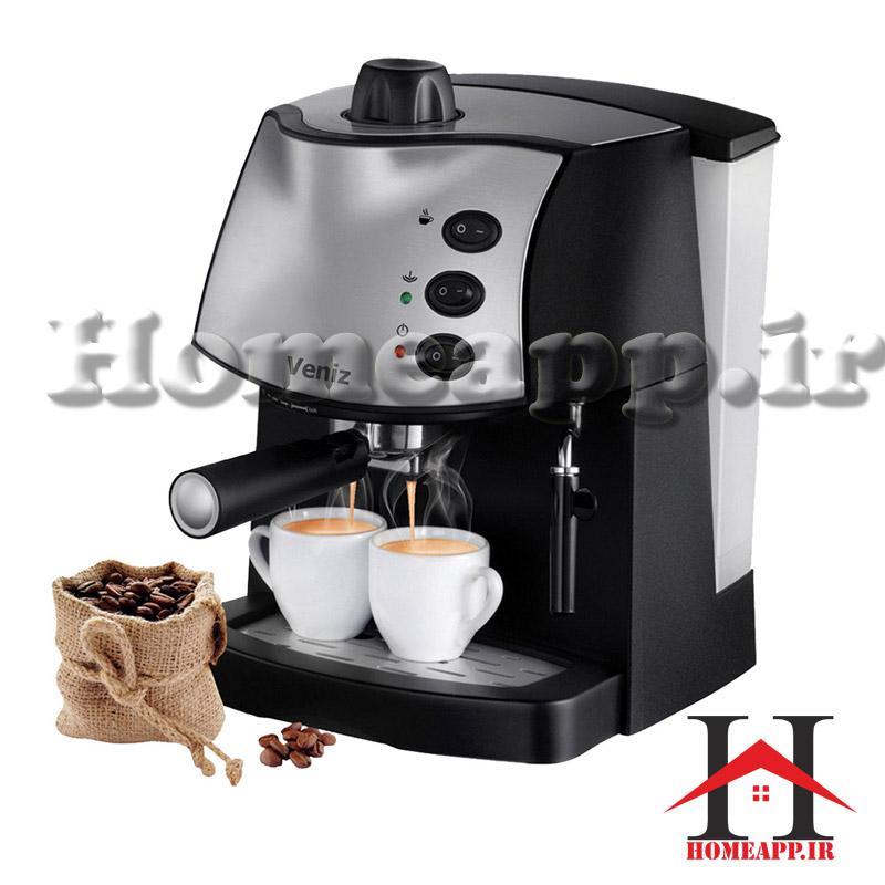 قهوه ساز اسپرسو حرفه ای (۱۵ بار فشار بخار) ونیز