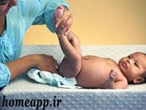 عوض کردن بچه با پوشک مولفیکس